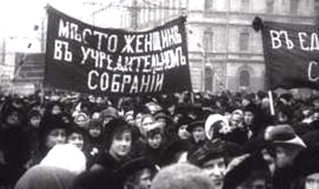Kvindernes selvorganiserede 8.marts-demo i Petrograd 1917 - startskuddet til Februarrevolutionen