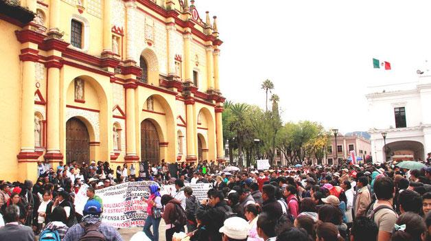 Folkeforsamling i San Cristóbal , Chiapas