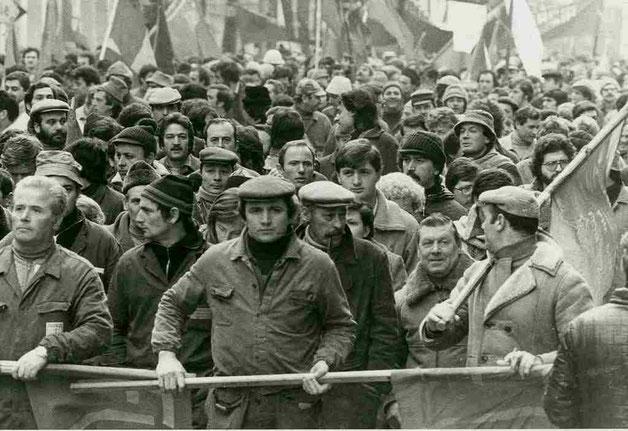 De basisdemokratiske  'Arbejderkomiteers'  demoblok