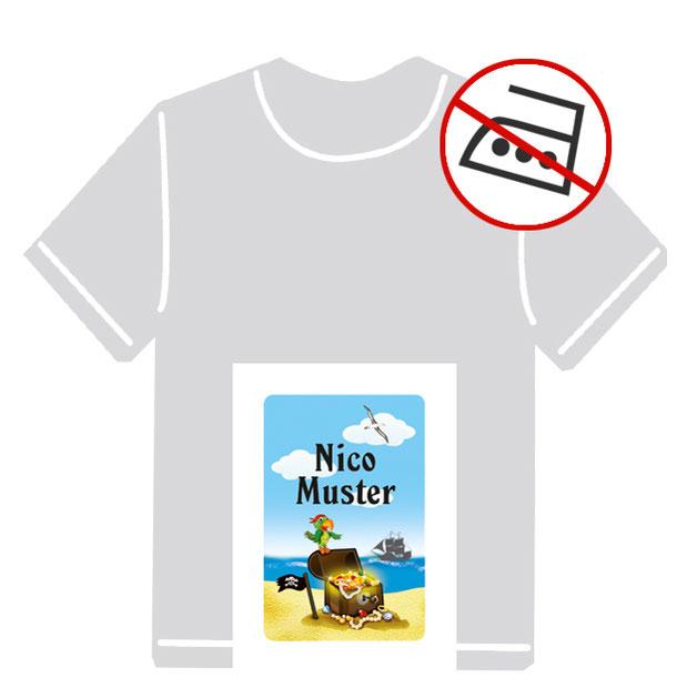 Kleidungsaufkleber für kurzfristige Markierung der Kleidung - ohne Aufbügeln - pvc-frei - Motiv: Piratenschatz