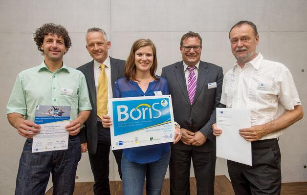 Von links: Herr Kremer, Herr Moser (Juror), Frau Merz und ganz rechts Herr Amann