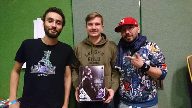 von links nach rechts: Salim Aroudj, Phillipe Lächele, Patrick Rüger