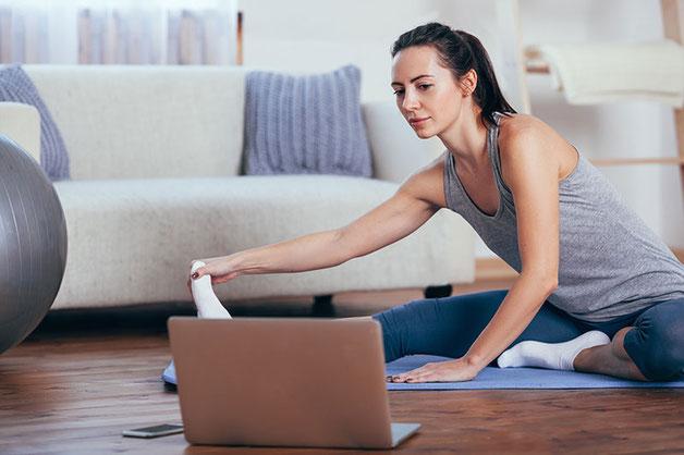 Yoga live stream mit Zoom im Raum der Achtsamkeit in Rupperswil bei Aarau