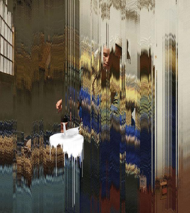 Processing-Projekt Destroyed by Pixels by Thomas Heck, Grafikdesigner, Karlsruhe – The destroyed milkmaid