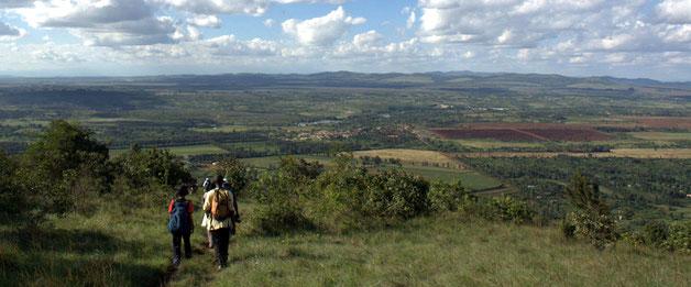 Monte Ol Donyo Sabuk, Kenya. Vista della pianura sottostante