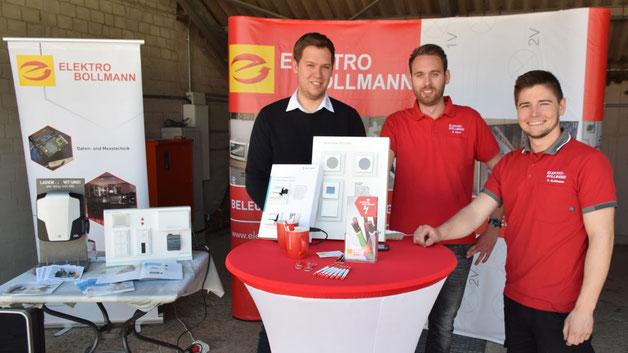 Elektro-Bollmann empfahl sich u.a. als Installationsbetrieb
