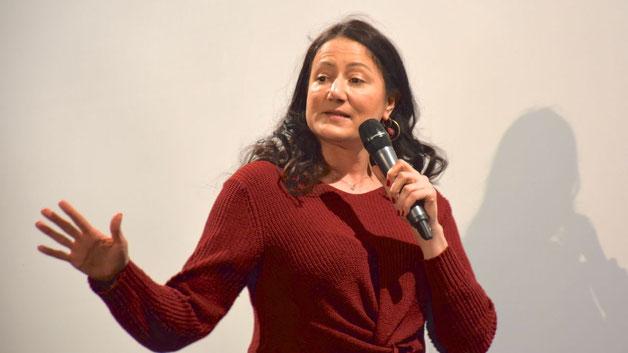 Für das Rahmenprogramm hatte Organisatorin Nicole Münster von der Stadtverwaltung die Comedians Alicja Heldt .....
