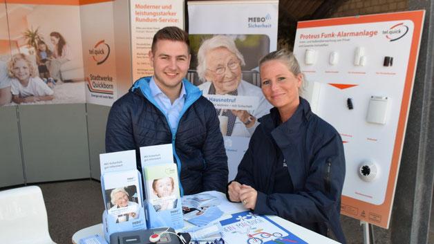 Das MEBO-Team informierte darüber, wie ihr Hausnotruf vor allem Älteren mehr Sicherheit bietet