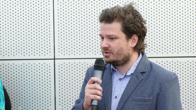 Robert Hedelt war aus Annaberg angereist und überbrachte die Grüße der Trägergesellschaft ASG Anerkannte Schulgesellschaft Sachsen