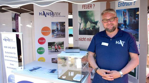 Sicherheitssysteme für das Haus stellte die Firma Hansetek vor