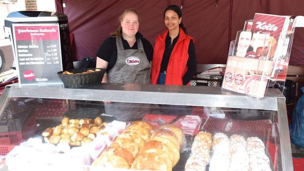 Aus einem breiten Angebot an süßen Leckereien konnten die Besucher bei der Bäckerei Kolls wählen
