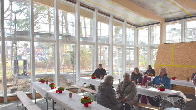 Die besondere Atmosphäre des neuen Gemeindezentrums wurde schon beim Richtfest spürbar.