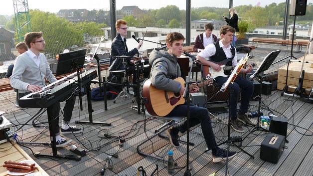 Die Band Zero Hour aus Norderstedt sorgte bei der gelungenen Eröffnungsfeier für den musikalischen Rahmen