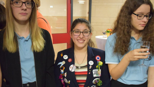 Erica Piceno, zur Zeit Gast der Rotarier aus Mexiko, nahm an der Veranstaltung teil