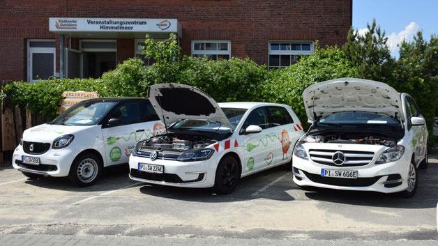 Vorreiter in punkto Elektromobilität: die Stadtwerke präsentierten ihre Flotte an umweltfeundlichen Fahrzeugen