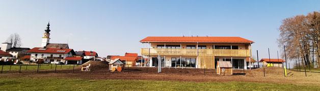 Das neue Kindergartengebäude der Gemeinde Wonneberg