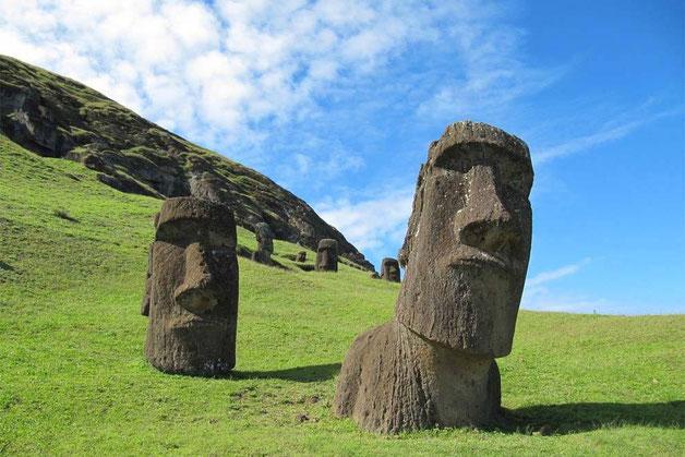 Les statues de l'île de Pâques