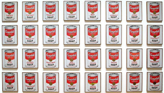 Campbell's Soup Cans andy warhol 1962