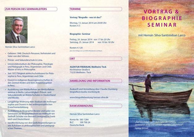 Vortrag und Seminar Weilheim/ Teck Januar 2014