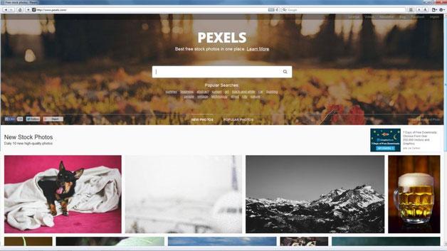 Captura de pantalla Pexels