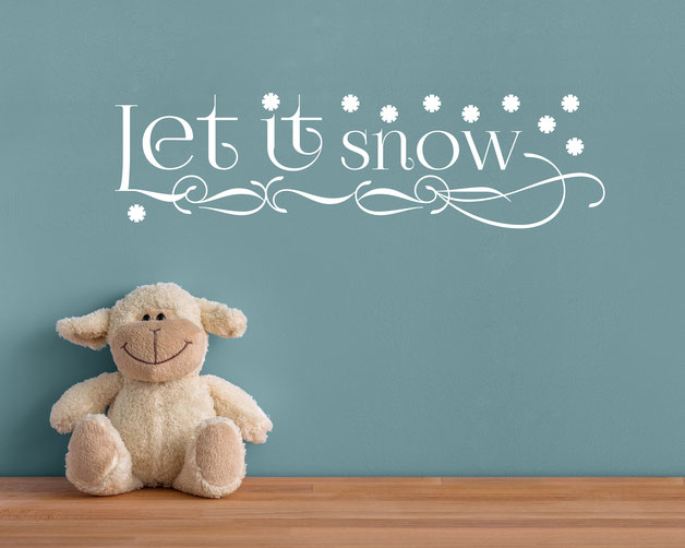Let it snow vinyl Wall art decals from www.wallartcompany.co.uk