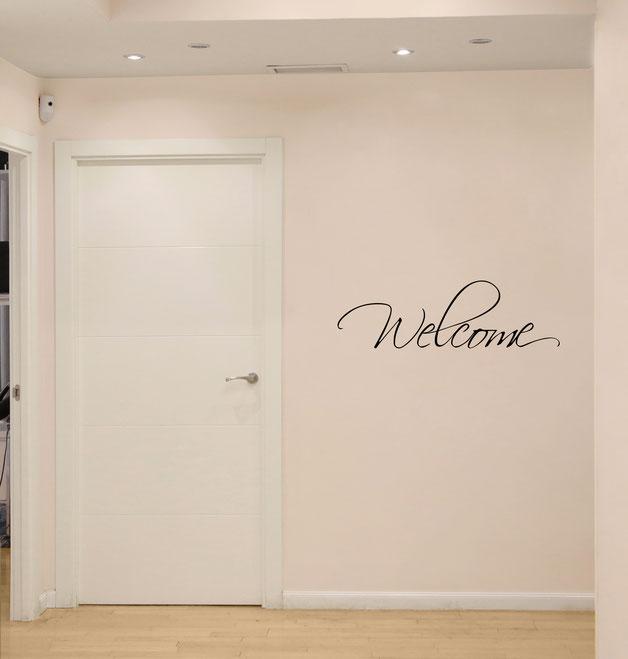 Welcome hallway wall art sticker. From wallartcompany.co.uk