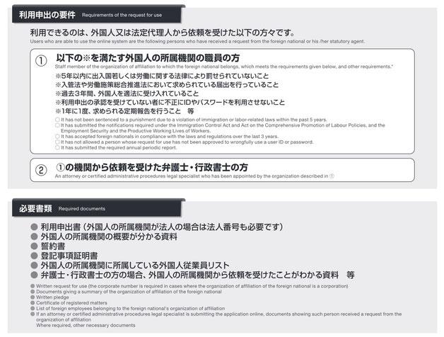 【入管ビザ申請の電子化】利用申出の要件及び必要書類について
