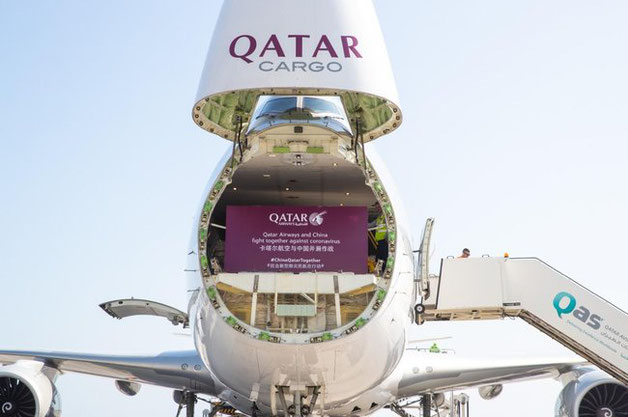 Qatar is supporting charities during the pandemic. Image: Qatar Airways