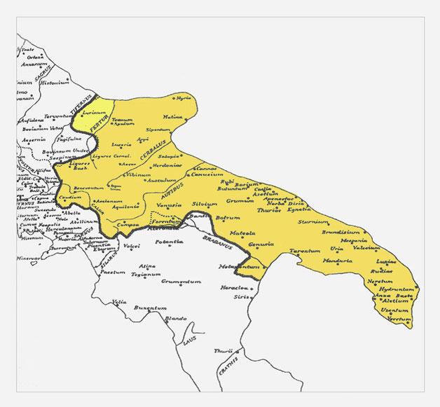 provincia Apulia et Calabria al tempo di Diocleziano