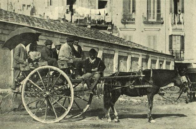 Carrozza popolare a cavalli detto sciaraballo
