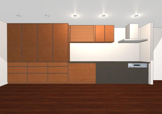 壁面収納 キッチン収納 カップボード 食器棚