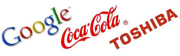 Ejemplos de logotipos tipográficos