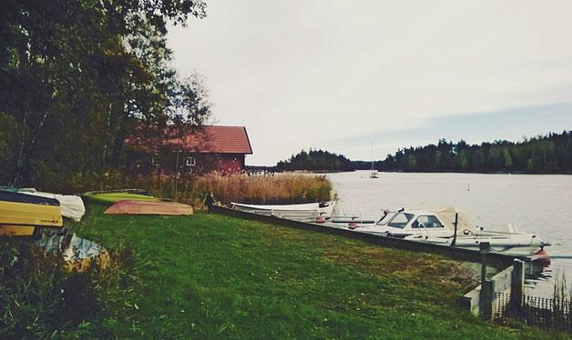 suède roslaguen bateau cabane mer