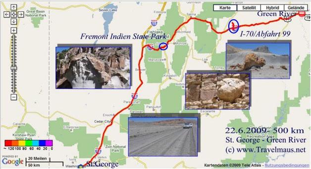 22.6.2009 Saint George - Green River 500 km