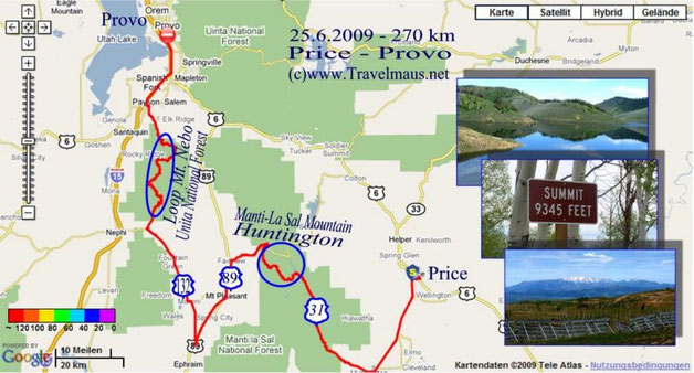 25.6.2009 Price - Provo 270 km