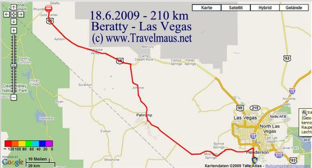 18.6.2009 Las Vegas - Beatty 210 km