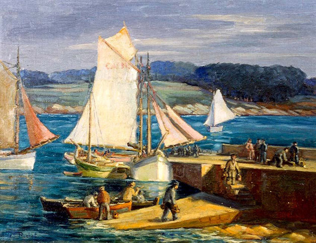 Paesaggio marino, stile Renoir. Tell ammira le regioni del nord ella Francia