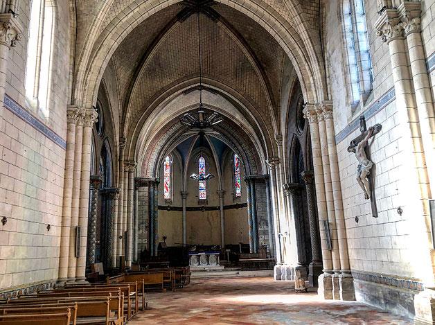 L'intérieur de l'église est en bon état à la suite de nombreux nettoyages organisés par l'association