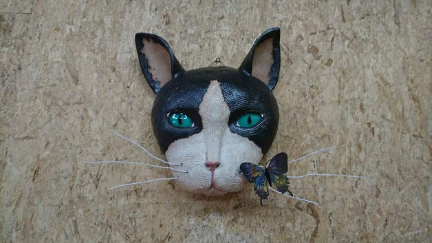 仲本律子 陶芸作家 ブログ 女性陶芸家 茨城県笠間市  猫 猫土面