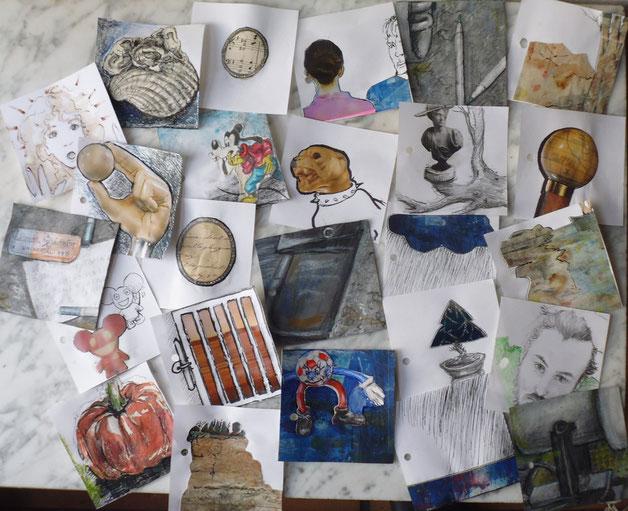 Bild Zettel mit kleinen Kunst-Botschaften