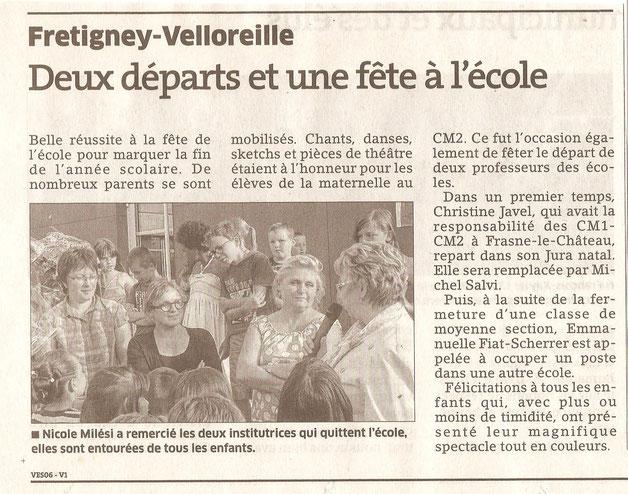 Gamins Fretigney Fête école Est républicain