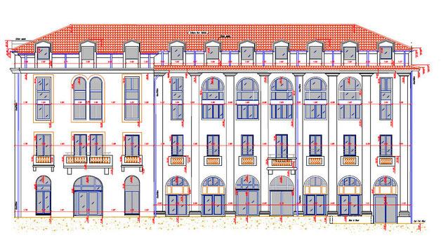 Exemple de plan de façade