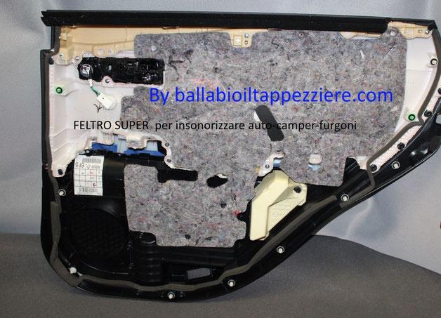 FELTRO SUPER insonorizzante per portiere auto-camper-furgoni By ballabioiltappezziere.com