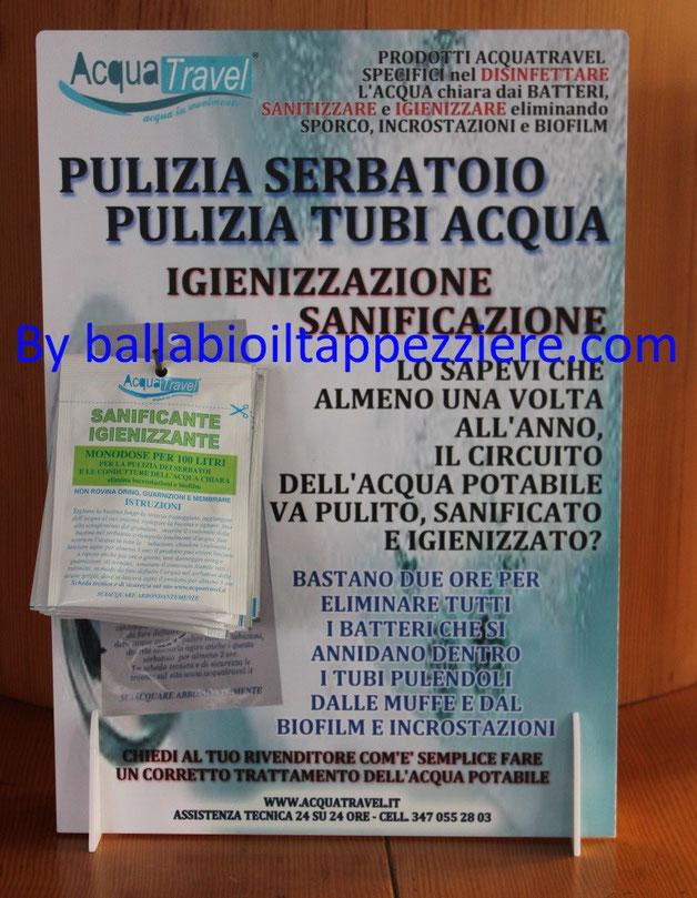 bustina monodose sanificante igienizzante serbatoi acqua di acquatravel, By ballabioiltappezziere.com