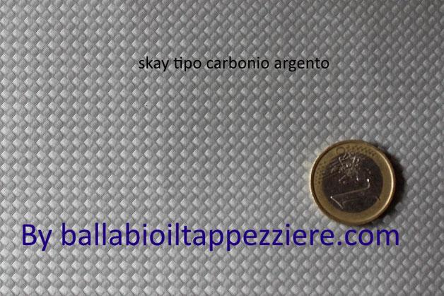Skay tipo carbonio argento per selle-tuning- By ballabioiltappezziere.com