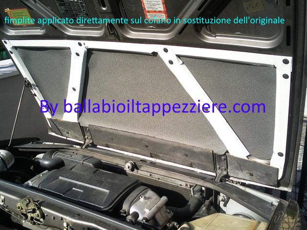 Fimplite per cofano motore in sostituzione all'originale By ballabioiltappezziere.com