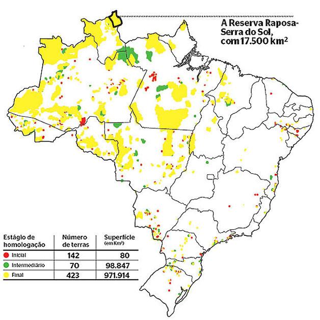 Fonte: Mapa Indígena - Revista Época