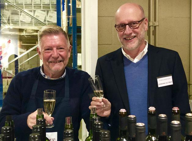 Met Emiel Laeremans (responsable commercial Luc Pirlet)(Emiel & Sam Laeremans wijnen te Veurne) Rien ne s'apprécie sans le concours d'une culture (Pierre Poupon) & ooit dronk Emiel een memorabele Trotanoy Magnum 1955  Feys-Brugge.
