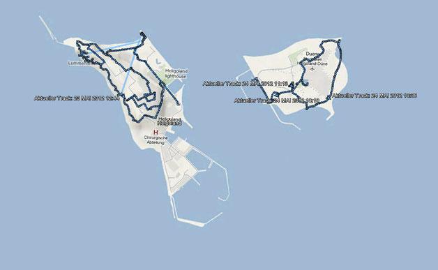 GPS-Tracks Helgoland