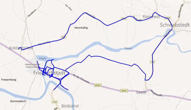 GPS-Track Friedrichstadt